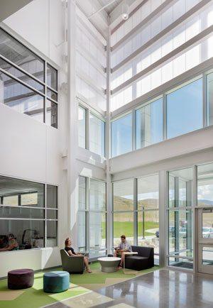 Roosevelt High School featuring EXTECH's LIGHTWALL 3440 wall systems. Photo credit: Astula Inc.