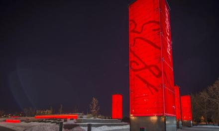 Sentinels at Fort Calgary constructed with Starphire Ultra-Clear glass by Vitro Architectural Glass