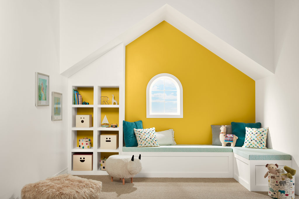 """""""Nature with a healthy boost, this warm yellow has the sunny disposition of a marigold."""" - Sue Kim, Valspar Sr. Color Designer"""