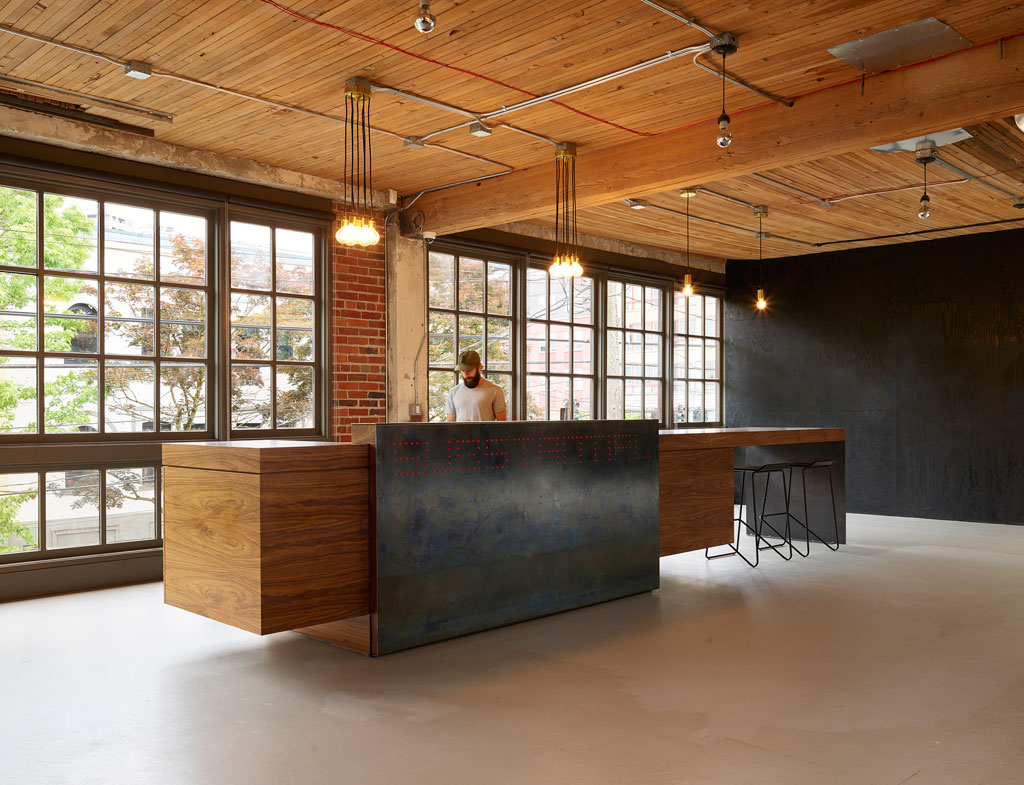 Reception desk. Photo by Kevin Scott