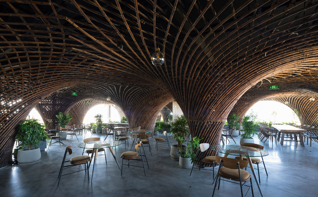 Nocenco Café by Vietnamese practice VTN architects (Vo Trong Nghia Architects). Credit: Trieu Chien