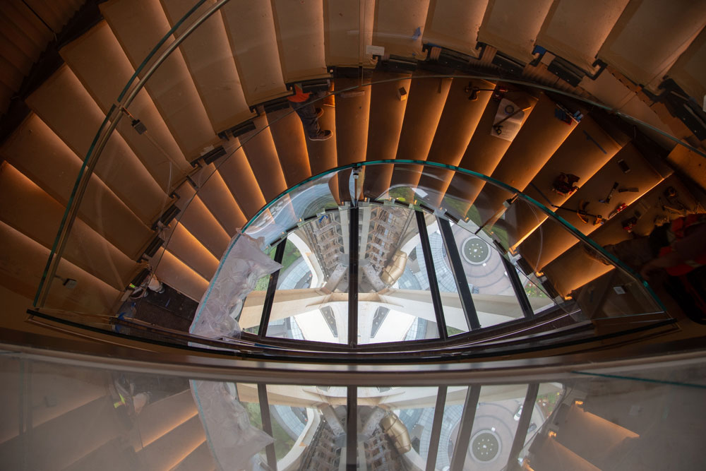 Space Needle's Oculus Stairway. Courtesy of Space Needle