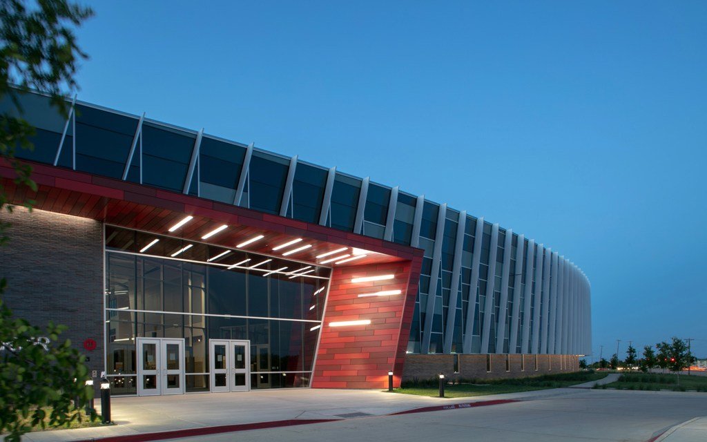 Dan Dipert Career and Technical Center in Texas features Tubelite systems inside and out