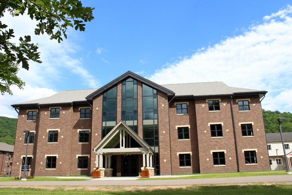 Pitt–Bradford's newest residence hall, Livingston Alexander House, opened this fall. The building houses 170 first-year students. Photo: University of Pittsburgh