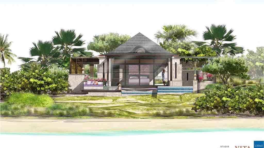 Guestroom elevation. Courtesy of Half Moon Bay Antigua