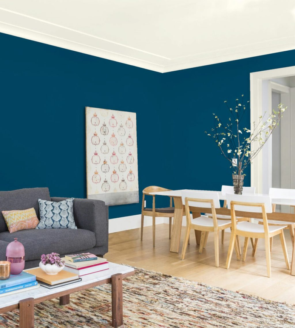 Peacock Blue KMA29: Deep blue remains a mainstay in home fashion. For 2019 we see it nudge toward teal with green influences and aqua varieties.