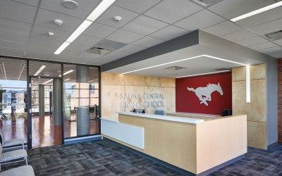 Salina Central High School improves aesthetics and acoustics with Rockfon ceilings