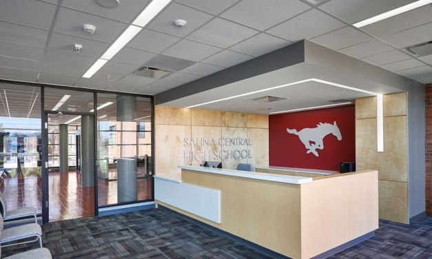 Salina Central High School improves aesthetics and acoustics with Rockfon ceilings