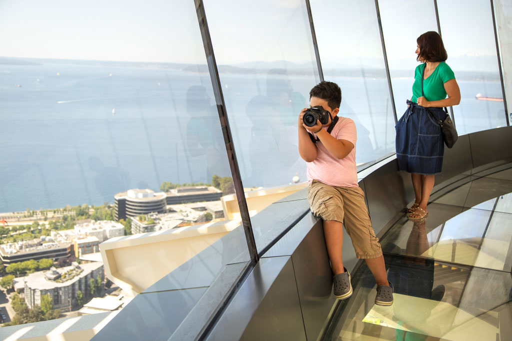 Views from the Space Needle's 500-foot level. Courtesy of John Lok.