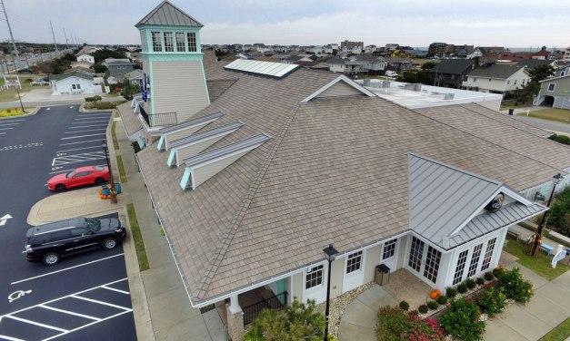 Hurricanes no match for DaVinci composite roof on seaside restaurant