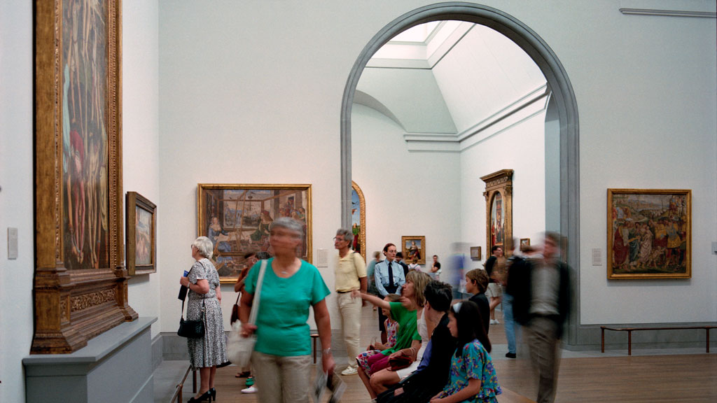 Interior View of Gallery Space, Photo by Phil Starlin, 1991, Architectural Archives, University of Pennsylvania by the gift of Robert Venturi and Denise Scott Brown. Copyright: Trustees of the University of Pennsylvania