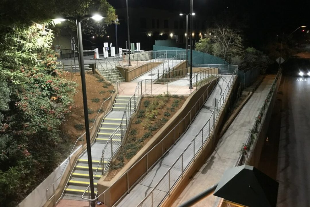 BART Downtown Access Ramp & Lighting, Project No. 4096 in Orinda, CA; LCC Engineering & Surveying, Inc. in Martinez, CA.