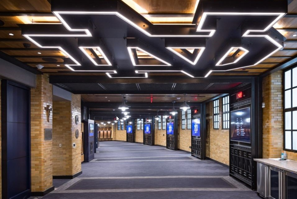 RHEINZINK panels enhance University of Notre Dame locker room