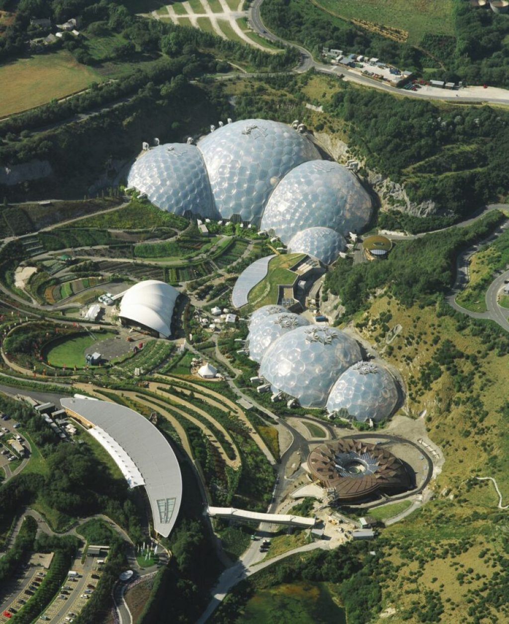 The Eden Project in Cornwall. Photo credit: Sealand Aerial Photography