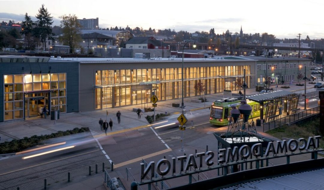 Amtrak Cascades Station at Freighthouse Square/VIA Architecture. Photo credit: Chris Eden, Eden Photography