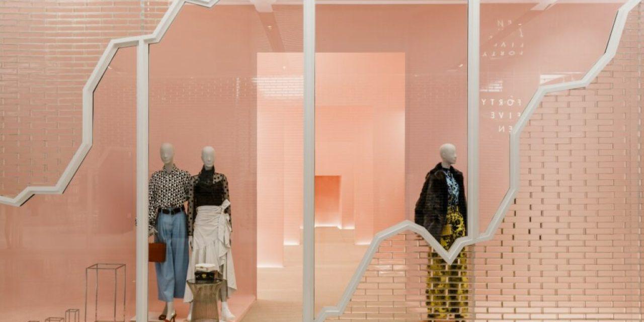 5G Studio Collaborative presents surreal-futuristic interior design of luxury retailer Forty Five Ten's spaces at Hudson Yards