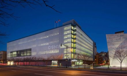 New York Sanitation Building Wows with Perforated Solar Fins Enriched with Lumiflon FEVE Resin