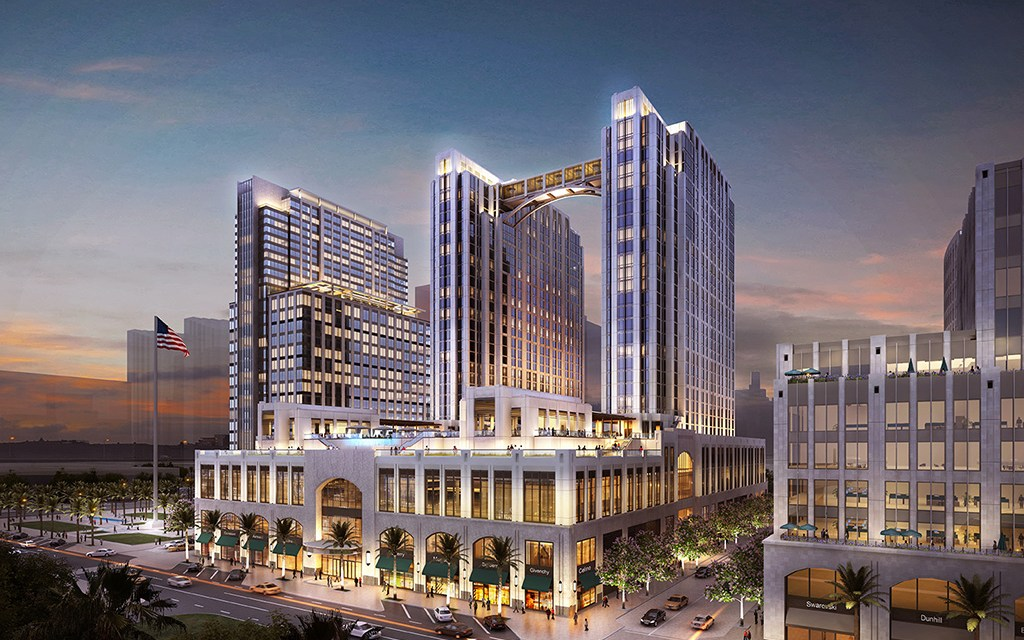 """""""Topping out"""" of new U.S. Navy Headquarters marks milestone for the $1.7 billion Manchester Pacific Gateway redevelopment project"""