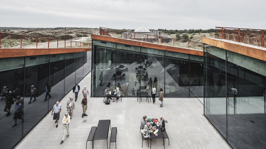 TIRPITZ Museum in Blåvand, Denmark; designed by BIG-Bjarke Ingels Group. Credit: © Rasmus Hjortshoj