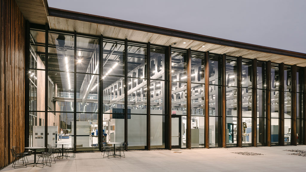 Smart Factory located at the Hoffman Estates, Illinois; designed by Barkow Leibinger. Credit: © Simon Menges, Berlin