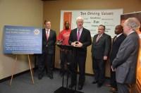 U.S. Senator John Cornyn hostng a press conference at the Prison Entrepreneurship Program's offices