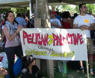 Banner: Pelican to Palestine