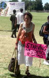 Placard: Starving for Justice at Gitmo