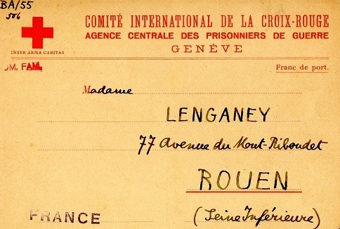 demande de renseignements 1940 carte croix-rouge internationale Genève