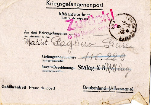 correspondance marin français 1941 ilag stalag 10 B