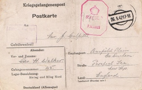 correspondance marin britannique 1942 Marlag Milag stalag 10 B