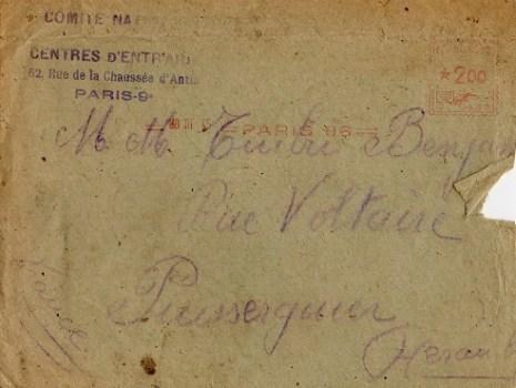 comité national centre d'entraide paris 1945