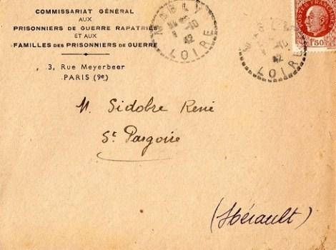 commissariat général aux prisonniers de guerre rapatriés et à leurs familles 1942