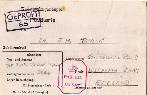 prisonniers de guerre courrier stalag luft III