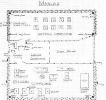 plan croquis Marlag prisonniers de guerre