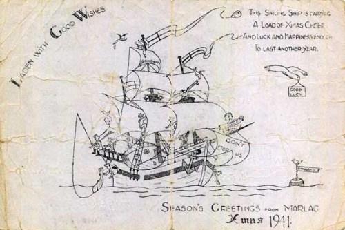carte illustrée Marlag Milag prisonniers de guerre