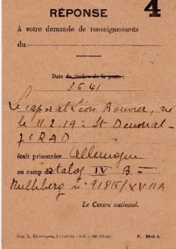 centre national d'information sur les prisonniers de guerre 1941