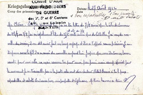 comité d'aide aux prisonniers de guerre Nantes