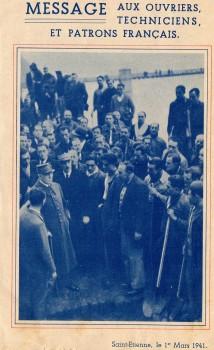 fascicule de la visite du Maréchal Pétain à St Etienne