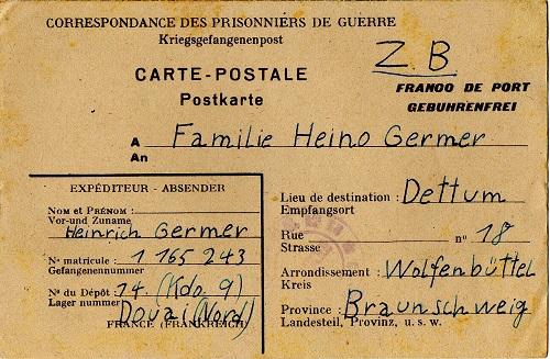 prisonnier de guerre allemand en France après 1945 Douai 14