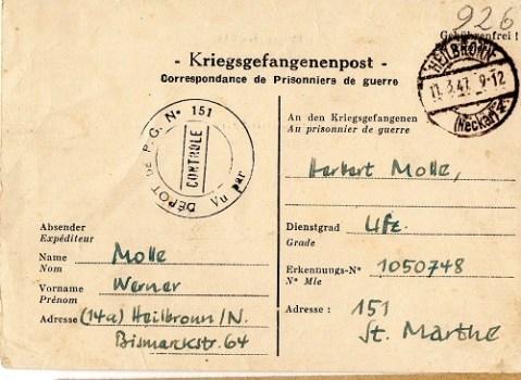 prisonnier de guerre allemand en France après 1945 St-Marthe 151