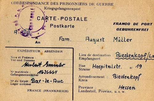 prisonnier de guerre allemand en France après 1945 Bar-Le-Duc 203