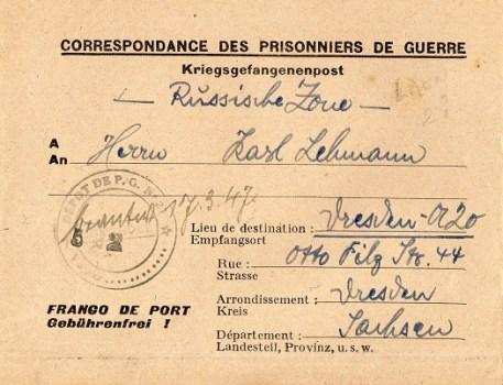 prisonnier de guerre allemand en France après 1945 Laon 21