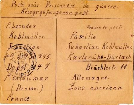 prisonnier de guerre allemand en France après 1945 Montélimar 147