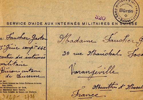 camp d'internement des prisonniers de guerre en Suisse