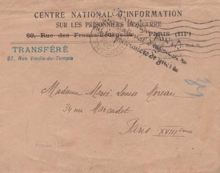 centre national d'information sur les p g nouvelle adresse 1941
