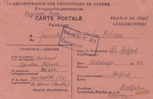 camp de prisonniers de guerre allemands n°401 le mans