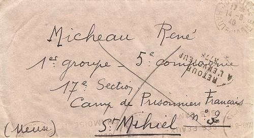 front stalag camp de st Mihiel n°3