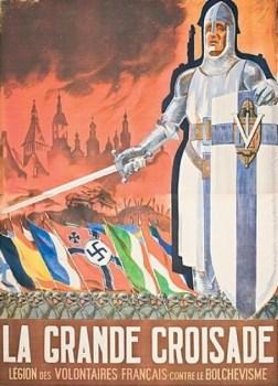 affiche la grande croisade de la LVF