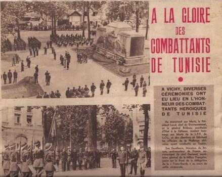 a la gloire des soldats de vichy combattant en tunisie