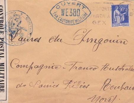 controle postal WE 380